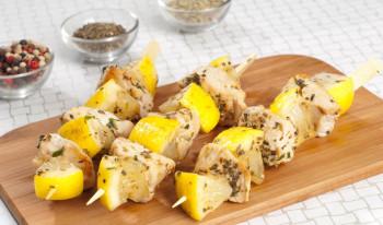 Brochette de poulet citron