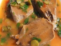 Langue de bœuf en sauce